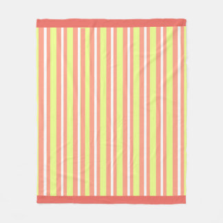 Baby-Decke--Fun-Stripe's-Peach-Lime_Fleece-M Fleecedecke