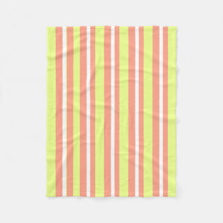 Baby-Decke--Fun-Stripe's-Peach-Lime_Fleece-S Fleecedecke