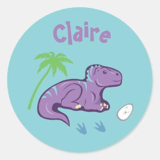 Baby-Dinosaurier Iguanodon Runder Aufkleber