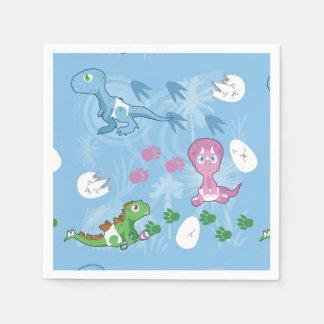 Baby-Dinosaurier Papierserviette