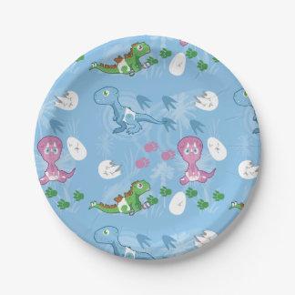Baby-Dinosaurier Pappteller