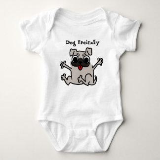 Baby dog friendly baby strampler