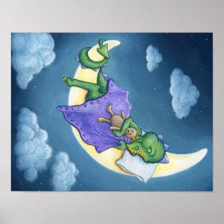 Baby-Drache-Träumen Poster