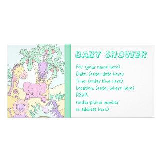 Baby-Dschungel 13 Babyparty Photogrußkarten