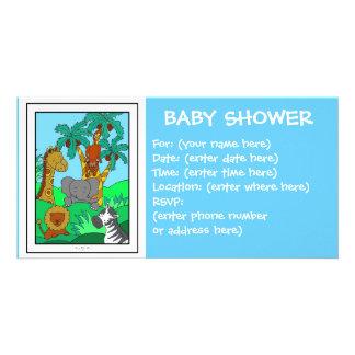 Baby-Dschungel 1 Babyparty Personalisierte Photo Karte