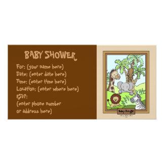 Baby-Dschungel 20 Babyparty Foto Karten