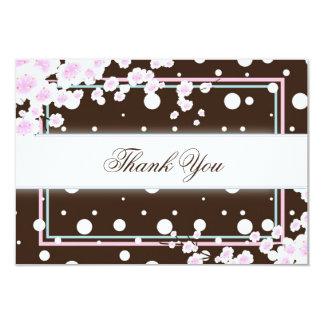 Baby-Dusche danken Ihnen, - hübsche Kirschblüte zu 8,9 X 12,7 Cm Einladungskarte
