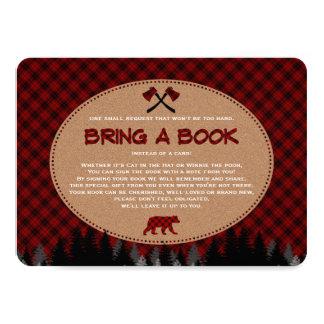 Baby-Duschen-Büffel-karierter Holzfäller holen ein Karte