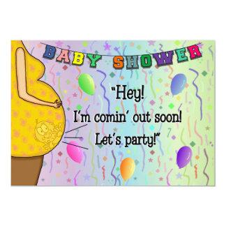 Baby-Duschen-Einladung - ich komme heraus Party 12,7 X 17,8 Cm Einladungskarte
