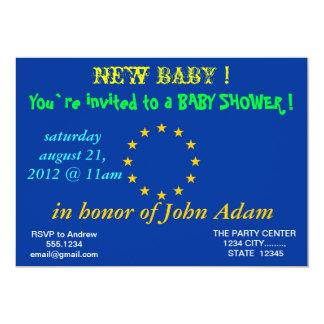 Baby-Duschen-Einladung mit Flagge der europäischen Karte