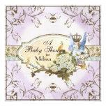Baby-Duschen-Einladung - verzauberte Quadratische 13,3 Cm Einladungskarte