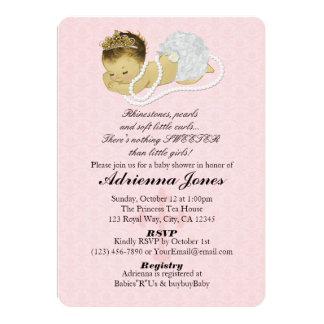Baby-Duschen-Einladungs-ROSA Prinzessin 147 Karte