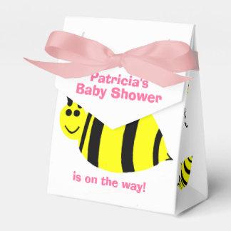 Baby-Duschen-Gelb-Hummel-Bienen-Schwarz-Bogen Geschenkschachtel