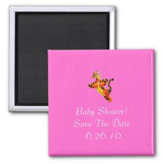Baby-Duschen-Save the Date Magnet Quadratischer Magnet