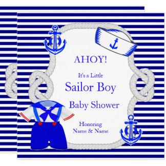 Baby-Duschen-Seemann-Anzugs-Jungen-königlicher Karte