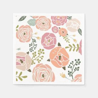 Baby-Duschen-Servietten - Vintage Rose Papierserviette