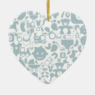 Baby ein background2 keramik Herz-Ornament