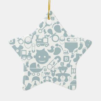 Baby ein background2 keramik Stern-Ornament
