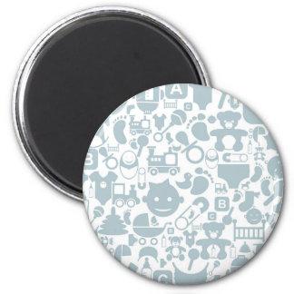 Baby ein background2 runder magnet 5,7 cm