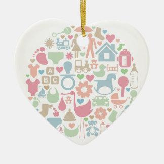 Baby ein Bereich Keramik Herz-Ornament