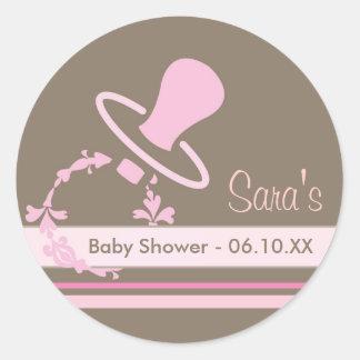 Baby-Einladung oder Bevorzugungs-Aufkleber - Runder Aufkleber