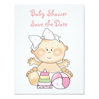 Baby-Einladungs-/Mitteilungs-Karten 10,8 X 14 Cm Einladungskarte