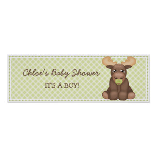 Baby-Elch-Babyparty-Fahne Poster