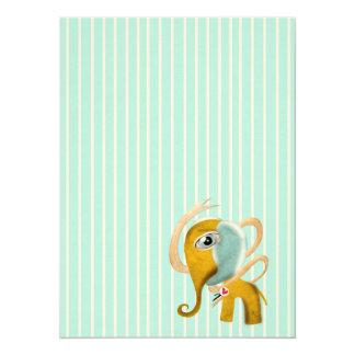 Baby-Elefant 14 X 19,5 Cm Einladungskarte