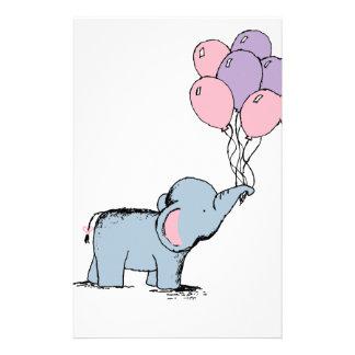 elefant mit ballon briefb gen selbst gestaltete elefant. Black Bedroom Furniture Sets. Home Design Ideas