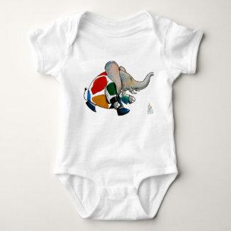 Baby elefant brechen with colred coat really baby strampler