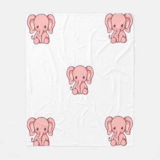 Baby-Elefant-Decke Fleecedecke