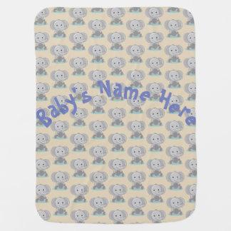Baby-Elefant-Decke - kundengebundene Baby-Decke Kinderwagendecke