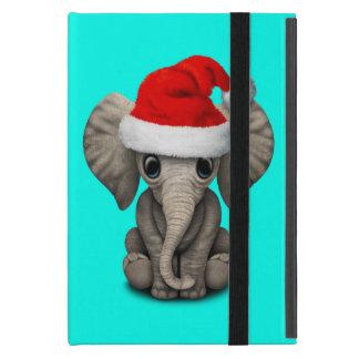 Baby-Elefant, der eine Weihnachtsmannmütze trägt iPad Mini Hüllen