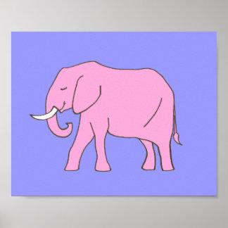 Baby-Elefant-Kinderzimmer-Kunst-Rosa lila für Poster