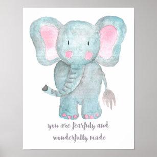 Elefant Kinderzimmer Wand Kunst Poster Zazzle De