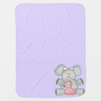 Baby-Elefant-Lavendel-Mädchen Puckdecke