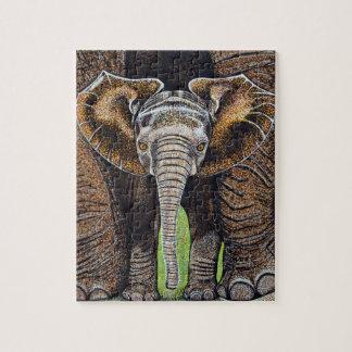 Baby-Elefant-Puzzlespiel 8 x 10 Puzzle