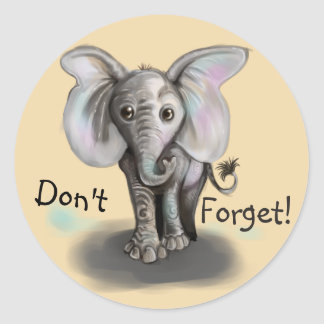 Baby-Elefant Runder Aufkleber
