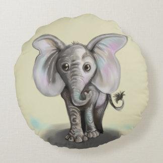 Baby-Elefant Rundes Kissen