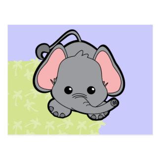 Baby-Elefant-Süsse Postkarte