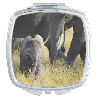 Baby-Elefant Taschenspiegel