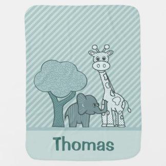 Baby-Elefant und Giraffe Babydecke