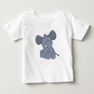 Baby-Elefant-ungeschickter Versuch - Baby-T - Baby T-shirt