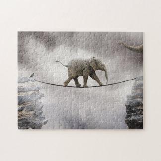 Baby-Elefant-Wege das Drahtseil Puzzle