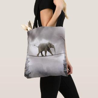 Baby-Elefant-Wege das Drahtseil Tasche