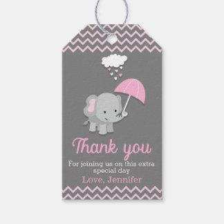 Baby Elephant Girl Baby Shower Party Favor Tags Geschenkanhänger