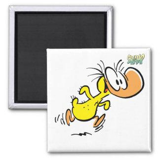 Baby-Enten-Kühlschrankmagnet Quadratischer Magnet