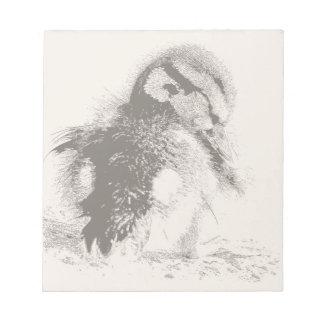 Baby-Enten-Vogel-Entlein-Tier-Tiere Notizblock
