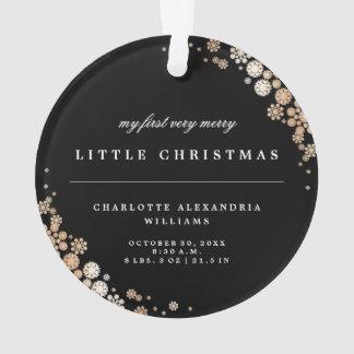 Baby-erste Weihnachtsschneeflocke-Foto-Verzierung Ornament