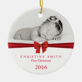 Baby-erste Weihnachtsverzierung kundengerecht Rundes Keramik Ornament